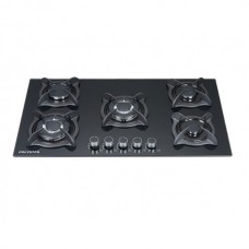 5 Burner Gas Hob-Black